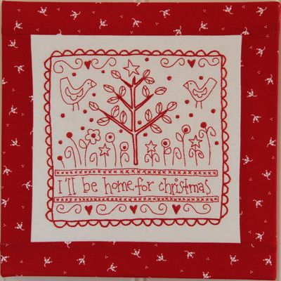 'Home For Christmas' stitchery