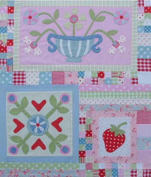 Block 4 - Strawberry Jam & Flowers